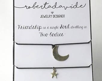 Moon and Star Best Friends Charms
