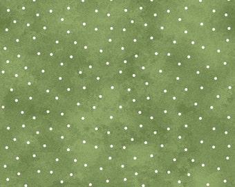 Scattered Dots - Medium Green by Maywood Studio (8119-GE) Cotton Fabric Yardage
