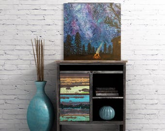 Galaxy Painting - Galaxy Art - Northern Lights Painting - Aurora Borealis Art - Original Galaxy Artwork - Northern Lights Art