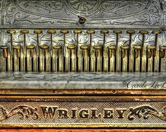 WRIGLEY CASH REGISTER ~ Vintage Cash Register ~ Flea Market ~ Trash and Treasure ~ General Store ~ Banking Financial Wall Art~