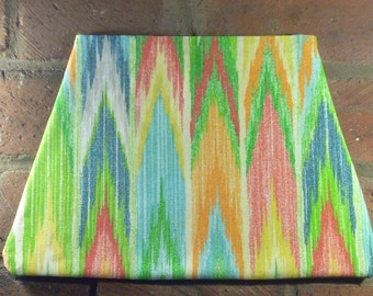 Rainbow Equalizer Triangle Clutch Bag