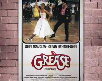 Original Movie Poster Grease - 100x140 CM - John Travolta, Olivia Newton-John