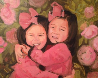 Custom Group Portraits - Family/ Friends/ Kids painting by commission