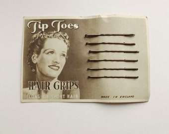 1930s Tip Toes bobby pins