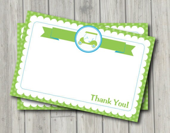 items similar to golf thank you note preppy golf thank you card