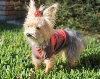 Buffalo Plaid Dog Sweater ** Sweater Knit for Dogs