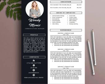 Stylish resume | Etsy