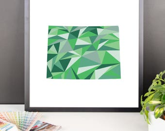 COLORADO State Pattern Map Print, Colorado Poster, Colorado Wall Art, Colorado Art, Colorado Gift, Colorado Decor, Colorado Print, Colorado