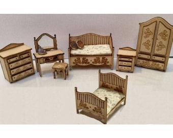 Quarter Inch Scale Renaissance Bedroom Set Furniture  Kits