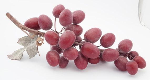 Manojo de uvas rojas - Jumbo Artificial del Faux de la fruta - tabla ...