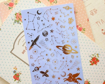 Mindwave Stars & Constellation metallic gold cartoon stickers