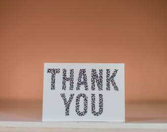 Thank You Card - Thanks Card - Grateful Card - Thank You Greeting Card - Thanks Greeting Card