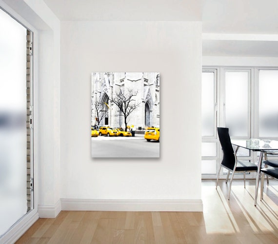 Black White And Yellow Wall Art