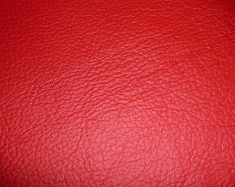 """Leather 12""""x12"""" KING Bright Red Full Grain Cowhide 2.75-3.25 oz / 1.1-1.3 mm PeggySueAlso™ E2881-03 Full hides available"""