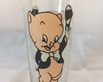 1973 Collectible Pepsi Cola Porky Pig Glass