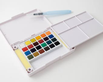 Sakura Koi watercolors, pocket field sketch set, 24 pans