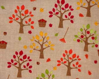 Autumn Fall Fabric - Riley Blake Fabric - Happy Harvest Doodlebug Designs C4031 Brown - Thanksgiving Quilters Cotton Fabric - The Fabric Zoo