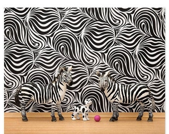 30% OFF SALE Zebra stripes wall art print: Stripes
