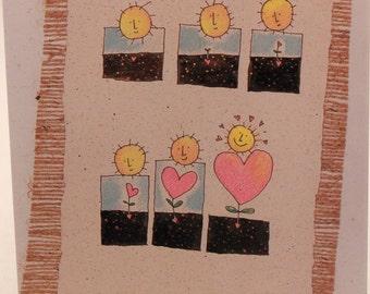 Vintage Sugar Creek Studio Valentines Day Card. Gwyn Walmann