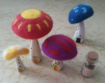 Day Phase Delight Fairy Fungi Houses|Fairy Houses|Hand Decorated|Indoor Ornament