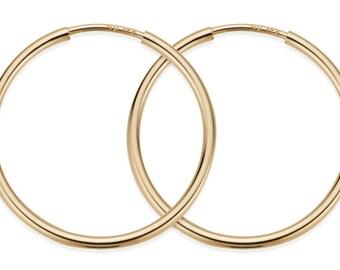 1 Pair, 20 mm 14K Gold Filled Hoop Earrings (GF4003803)