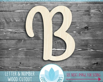Large Wood Letters And Numbers, Wooden Laser Cut Uppercase Letters, Wood Numbers, Unfinished Wood For DIY Projects, Large Wood Numbers