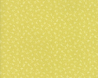 Fig Tree Fabric - Ella and Ollie Fabric Yardage - Moda Quilt Fabric - Apple - Green Tonal Fabric By The 1/2 Yard -