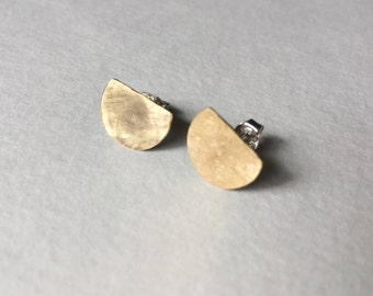 Small Hammered Brass Studs