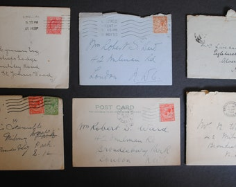 Vintage Handwritten Personal Letters with Envelopes Paper Ephemera from 1908 - 1933 for Scrapbooking, Junk Journals, Altered Art and Crafts