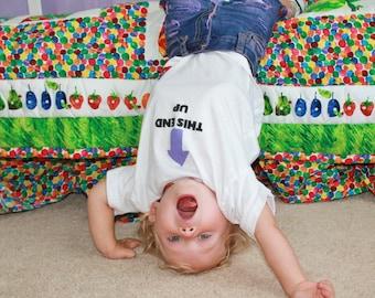 This End Up Shirt - Toddler Caution Shirt - Toddler This End Up Shirt - Warning Label Toddler Clothes - Funny Toddler Shirt