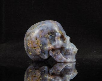 Crystal Skull Grape Agate Skull