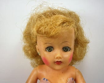 """Ideal VT-10 1/2 Fashion Doll, Miss Revlon 10"""" Doll with Original Clothes and Shoes, Blonde Hair, Sleepy Eyes, Vintage Teen Doll, Collectible"""