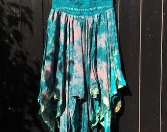 Indian Bright Silk Skirt - The Pushkar Princess - Turquoise