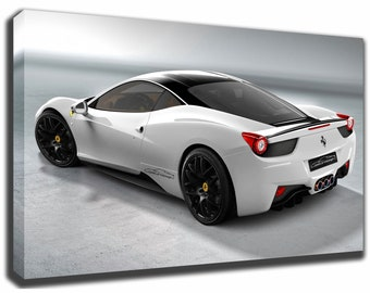 FERRARI 458 ITALIA Canvas/Poster Wall Art Pin Up HD Gallery Wrap Room Decor  Home