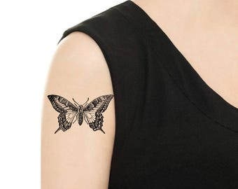 TEMPORARY TATTOO - Vintage Butterfly - Various Patterns / Tattoo Flash