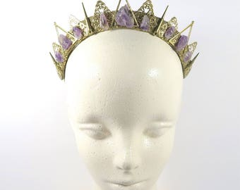 Obscura Amethyst Crown - Queen of the Ruins Collection - by Loschy Designs