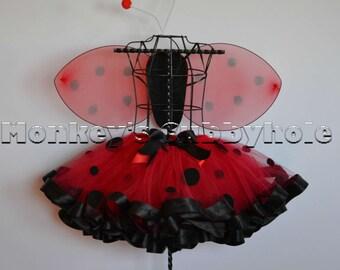 Ladybug Ribbon Trimmed Tutu