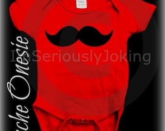 Mustache Onesie-Little Man Party-Baby shower-baby shower gift-Mustache party-RED onesie-baby boy-baby girl-Mustache clothes-mustache theme
