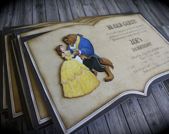 Quinceanera Invite Beauty And The Beast Invitation Rose - Wedding invitation templates: beauty and the beast wedding invitation template free