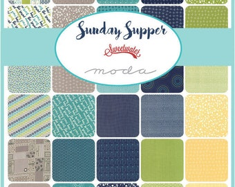Sunday Supper by Sweetwater Fat Quarter Bundle - 40 FQ's
