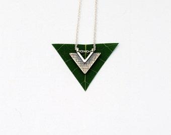 Triangle neckalce minimalist sterling silver jewelry