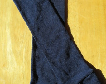 Leg Warmers  / Arm Warmers / Babylegs - Navy Blue with Bright Blue Top Stripe - Dees Transformations