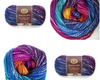 Shawl in a Ball Yarn Restfull Color Self-Striping Hues
