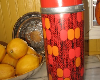 Vintage Aladdin thermos. Thermos. Rustic decoration. Great for picnic - lunch.