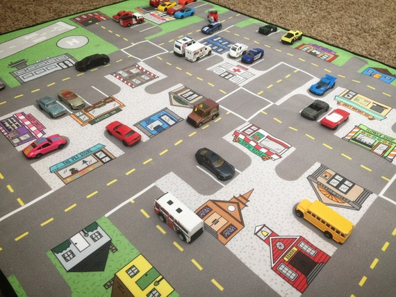Best Matchbox Cars And Toys For Kids : Road map kids car mat activity floor game matchbox
