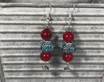 India inspired beaded earrings