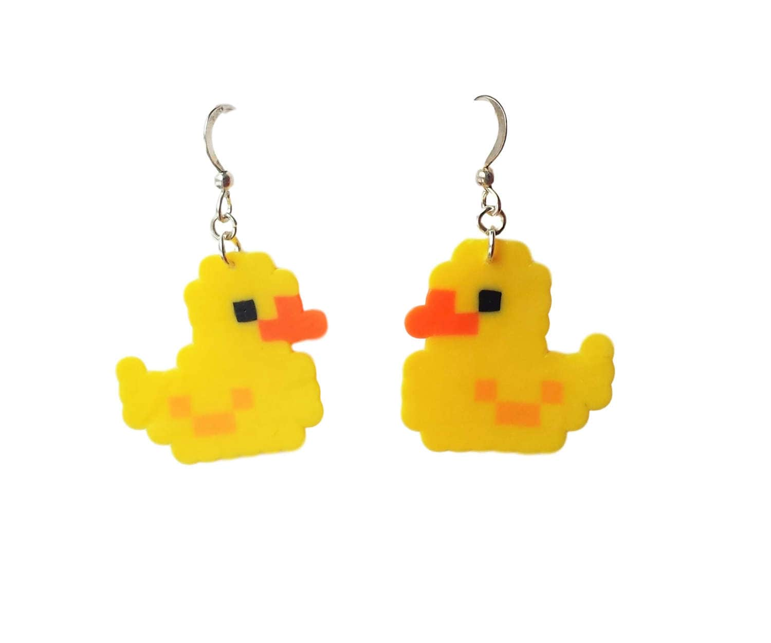 Rubber Ducky Pixel Earrings Duck Lover Earrings Rubber Ducky