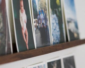 Handcrafted Photo Rail, Wood Photo Shelf, Wood Photo Display Shelf, Photo Ledge, Christmas Gift, Gift For Him, Photo Shelf, Photo Rail