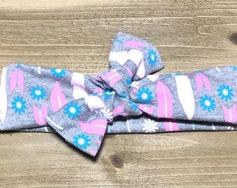 Arrows & Nomads Headband- Baby Headwrap Baby Head Wraps Tie Knot Headbands Baby Headbands Girls Headbands Newborn Headbands Jersey Knit