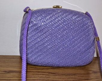 Vintage sisal lavander color bag